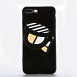 For Mirror DIY Case Back Cover Case Cosmetics Black Classic Powder Soft TPU for Apple iPhone 7 7 Plus 6s 6 Plus