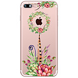 Succulent Plants Pattern Case Back Cover Case Flower Soft TPU for Apple iPhone 7 Plus iPhone 7 iPhone 6s Plus iPhone 6s iPhone 5 SE 5C iphone 4