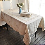 135x175cm Rectangular Embroidered Table Cloth Linen Tablecloth On Sale