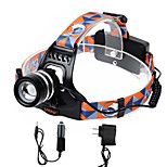 U'king ZQ-G70000BBlack CREE T6 LED 2000LM 3Mode Adjustable Focus Headlamp Bike Light for Camping/Hiking/Caving Everyday Use Cycling