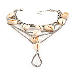 Women's Anklet/Bracelet Pearl Shell Alloy Friendship Fashion Bohemian Animal Shape Silver Women's Jewelry Party Daily Casual 1pc