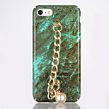 For IMD DIY Case Back Cover Case Marble Pearl Chain Hard PC for Apple iPhone 7 Plus iPhone 7 iPhone 6s Plus iPhone 6 Plus iPhone 6s iPhone 6