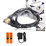 U'King® ZQ-X839GO#5-EU 2* CREE XPE Natural/ UV Purple 4Mode Zoomable Multifunction Headlamp Bicycle Light Kit