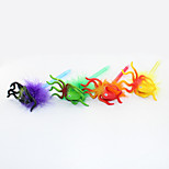 New Three-dimensional Plastic/Hair Ball Cartoon Octopus Craft BallPoint Pen