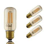 GMY® 4W E27 LED Filament Bulbs T38 4 COB 350 lm Amber Dimmable Decorative AC 220-240 V 4 pcs