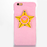 For Mirror DIY Case Pentagram Pattern Plush Back Cover Case for Apple iPhone 7 7 Plus 6s 6 Plus