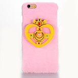 For Mirror DIY Case Crown Pattern Plush Back Cover Case for Apple iPhone 7 7 Plus 6s 6 Plus