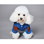 Dog Coat Orange Blue Black Gray Dog Clothes Winter Solid Cute