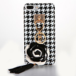 For IMD Case DIY Houndstooth Camellia Back Cover Case Soft TPU for Apple iPhone 7 7 Plus 6s 6 Plus