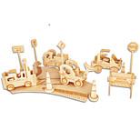 Puzzles Kit de Bricolage Blocs de Construction Puzzles 3D Jouet Educatif Puzzle Puzzles en bois Blocs de Construction Jouets DIY Bâtiment