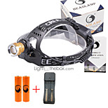 U'King® ZQ-X839GO#3-EU 2* CREE XPE Natural/ UV Purple 4Mode Zoomable Multifunction Headlamp Bicycle Light Kit