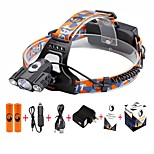 U'King® ZQ-X827B#-US CREE 1*T6/2*XPE 5000LM Zoomable Multifunction 4Modes Headlamp Bicycle Light Kits