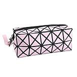 1Pca Fashion Geometric Zipper Cosmetic Bag Women Laser Flash Diamond Leather Makeup Bag Ladies Cosmetics