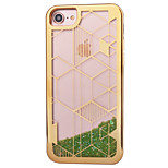 Per Placcato Liquido a cascata Custodia Custodia posteriore Custodia Glitterato Morbido TPU per AppleiPhone 7 Plus iPhone 7 iPhone 6s