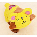 Dog Coat Dog Clothes Winter Cartoon Cute Yellow Blue Blushing Pink