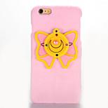 Pour Miroir A Faire Soi-Même Coque Coque Arrière Coque Papillon Dur Tissu pour AppleiPhone 7 Plus iPhone 7 iPhone 6s Plus iPhone 6 Plus