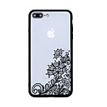 For Pattern Case Back Cover Case Lace Printing Hard Acrylic for iPhone 7 Plus 7 6s Plus 6 Plus 6s 6