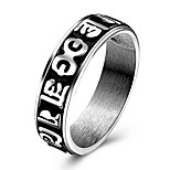 Men's Ring Statement Titanium Steel Unique Design Fashion Cool Punk Style Finger Rings Party Daily Casual Jewelry Hip-Pop Vintage