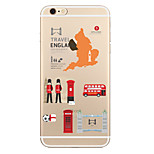 For Transparent Pattern Case  City View Soft TPU for Apple iPhone 7 Plus 7 iPhone 6 Plus 6 iphone 5 SE 5C iphone 4