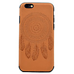 For Embossed Dreamcatcher Pattern PU leather and Black TPU Combo Soft Phone Case for iPhone 7 Plus 7 6S Plus 6