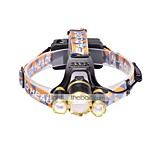 U'King® ZQ-G808USBGO 3 * CREE XML-T6 6000LM 4Mode Zoomable Headlamp Micro USB Charging Version