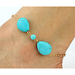 Women's Anklet/Bracelet Alloy Fashion Punk Button Gold Women's Jewelry Party Daily Casual 1pc