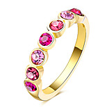 Ring Alloy Crystal Diamond Unique Design Rhinestone Geometric Euramerican Finger Rings Party Special Occasion Daily Casual Jewelry Zircon For Women
