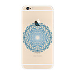 Para Transparente Diseños Funda Cubierta Trasera Funda Mandala Suave TPU para AppleiPhone 7 Plus iPhone 7 iPhone 6s Plus iPhone 6 Plus