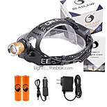 U'King® ZQ-X839GO#1-US 2* CREE XPE Natural/ UV Purple 4Mode Zoomable Multifunction Headlamp Bicycle Light Kit