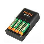 Pkcell 2500mWh 8186 AA 1.6V Nickel Zinc Battery 300mAh 4 Pack