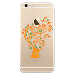 For Transparent Pattern Case  Tree Soft TPU for Apple iPhone 7 Plus  7 iPhone 6 Plus  6 iPhone 5 SE 5C iphone 4