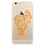 Para Transparente Diseños Funda Cubierta Trasera Funda Árbol Suave TPU para AppleiPhone 7 Plus iPhone 7 iPhone 6s Plus iPhone 6 Plus