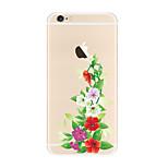 Per Transparente Fantasia/disegno Custodia Custodia posteriore Custodia Fiore decorativo Morbido TPU per AppleiPhone 7 Plus iPhone 7
