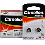 Camelion AG10 Coin Button Cell Alkaline Battery 1.5V 40 Pack