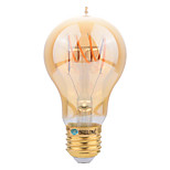 BRELONG E27 4W A60 intage Flexible/BENT Spiral Lamp LED Curved Filament Bulb - Amber Tinted Glass Light Bulb