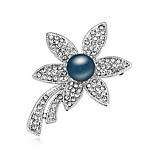 Women's Brooches Pearl Pearl Alloy Natural Flower White Black Dark Blue Gray Bronze Jewelry Daily