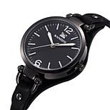 Fashion Watch Quartz Genuine Leather Band Charm Black White Brown
