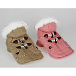 Dog Coat Dog Clothes Winter British Cute Blushing Pink Khaki