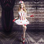 Cosplay Costumes Party Costume Nurse Festival/Holiday Halloween Costumes Red White Patchwork Lace Dress Halloween Christmas Carnival