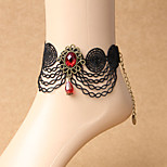 Women's Anklet/Bracelet Lace Fashion Bohemian Handmade Flower Black Women's Jewelry Party Daily Casual 1pc