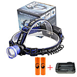 U'King® ZQ-X837BL#7-EU CREE XML T6 Zoomable 180 Rotate 3Modes Headlamp Bike Light Kits with Rear Safety LED