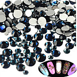 400-500pcs/bag New SS3-SS16 Mixed Size Dark-blue Nail Glitter Rhinestone Nail Art Sparkling Shiny Rhinestone Nail Art Beauty Decoration