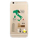 Für Transparent Muster Hülle Rückseitenabdeckung Hülle Stadtansicht Weich TPU für AppleiPhone 7 plus iPhone 7 iPhone 6s Plus iPhone 6