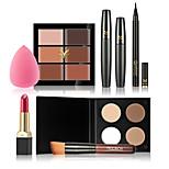 New Women Value Pack Makeup Set Gift Gel Eyeliner Eye Liner Pen Eyebrow Pencil Sexy Lipstick  Mascara Tool Kit