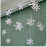 RayLineDo® 1 Piece White Paper Garland For Wedding Birthday Anniversary Party Christmas Girls Room Decoration Snow Shape