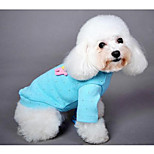 Dog Coat Blue Dog Clothes Spring/Fall Solid Sports Casual/Daily