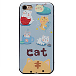 For Kitten Pattern Relief Black TPU Soft Phone Case for iPhone 7 Plus 7 6 Plus 6 SE 5