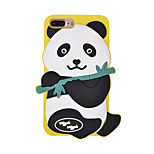 For Shockproof Case Back Cover Case 3D Cartoon Panda Soft Silicone Case for Apple iPhone 7 Plus iPhone 7 iPhone 6s Plus/6 Plus iPhone 6s/6