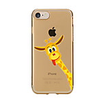 For Transparent Pattern Case Back Cover Case Cartoon Giraffe  Soft TPU for IPhone 7 7Plus iPhone 6s 6 Plus iPhone 6s 6 iPhone 5s 5 5E 5C