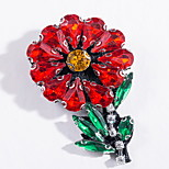 Women's Brooches Alloy Basic Fashion Flower Red Jewelry Daily